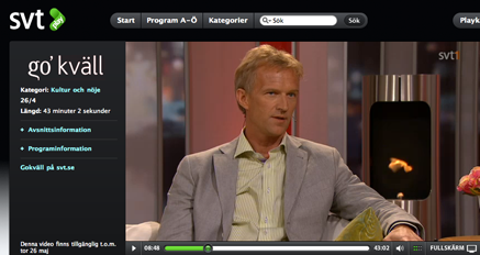 Christer Perfjell på SVT Go'kväll
