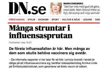 vaccination influensa